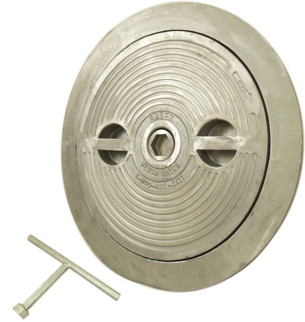 Flush Deck Hatch | Hex Centerbolt | Round 18″ | Aluminum